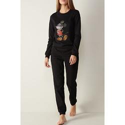 Warm Cotton Pajamas with Rhinestone Mickey Mouse