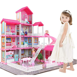 Temi Dollhouse Dreamhouse Building Toys Figure w/ Furniture