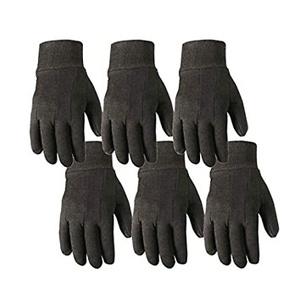 6 Pair Bulk Pack Jersey Cotton Work & Gardening Gloves