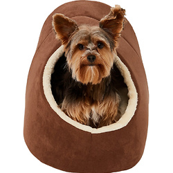 Frisco Cave Covered Cat & Dog Bed