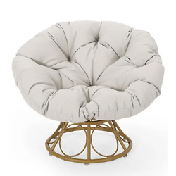 Maries Outdoor Papasan Swivel Chair with Cushion
