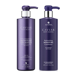 Alterna Caviar Anti-Aging Replenishing Moisture Shampoo and Conditioner 16.5 oz