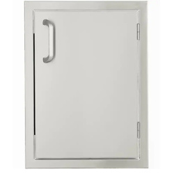 BBQGuys Signature Series 17-Inch Stainless Steel Right-Hinged Single Access Door