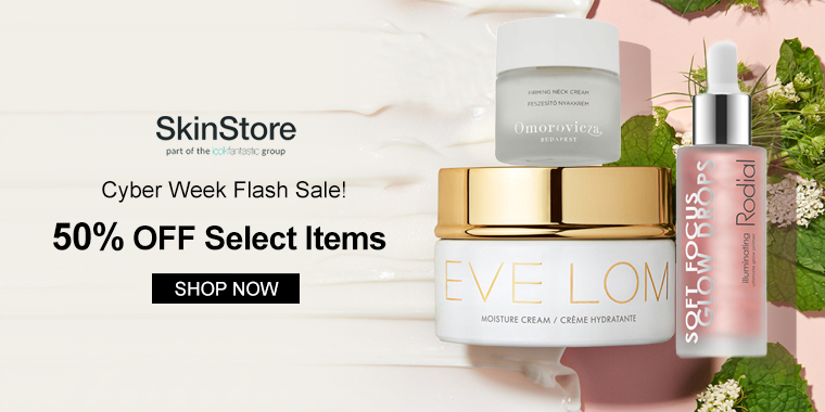 Cyber Week Flash Sale! SkinStore: 50% OFF Select Items