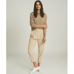 CASHMERE CREW NECK JUMPER OATMEAL