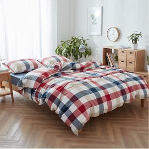 DONEUS 全棉格纹被罩床品组合