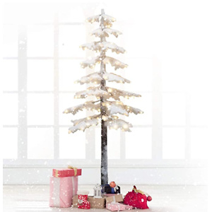 Artificial Tree, Lighted maple Tree with 140 LED Lights Warm