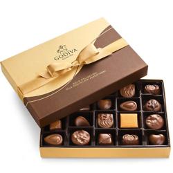 Milk Chocolate Gift Box, Gold Ribbon, 22 pc.