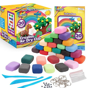 Creative Kids Air Dry Clay Modeling Crafts Kit For Children