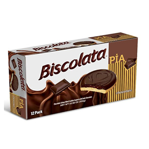 Biscolata Pia Chocolate and Fruit filling Cookies Snacks