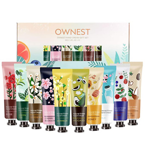 Ownest 10 Pack Plant Fragrance Hand Cream Moisturizing Hand Care Cream Travel Gift Set