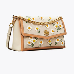 Kira Canvas Appliqué Shoulder Bag
