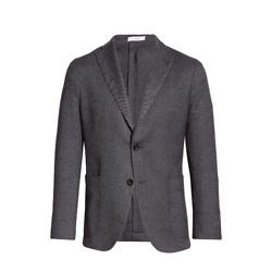 Trim Fit Bird's Eye Wool & Cotton Blend Sport Coat
