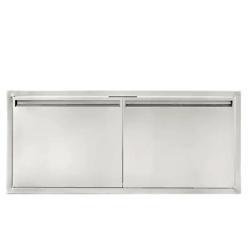 42英寸不锈钢双开门储物柜