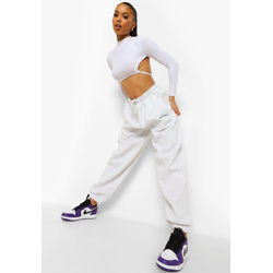 Woman Embroidered Oversized Joggers