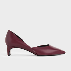 Square Toe D'Orsay Court Shoes