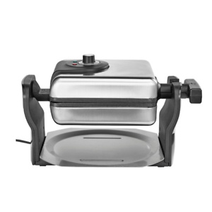 Bella - Pro Series 4-Slice Rotating Waffle Maker - Stainless Steel