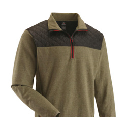 Guide Gear Men's Quilted Quarter-zip Pullover