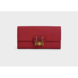 Stone-Embellished Long Wallet