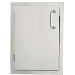 Signature Series 17-Inch Stainless Steel Left-Hinged Single Access Door - Vertical