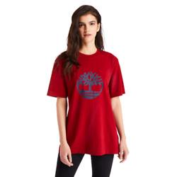 OVERSIZED TREE LOGO T-SHIRT FOR WOMEN IN RED