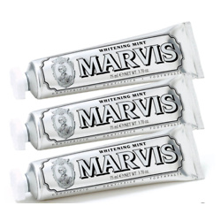 Marvis Whitening Mint Toothpaste Bundle (3x85ml, Worth $40.50)