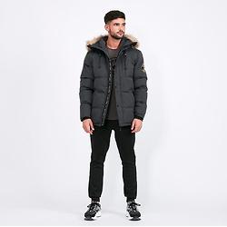 Zavetti Canada Oshawa Puffer Parka Jacket | Grey