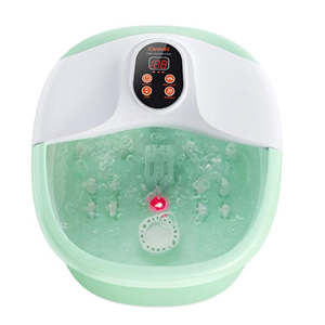 Carevas Foot Bath Massager, Heated Foot Soaker with O2 Bubbles