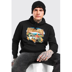 OVERSIZED OFFICIAL MAN CAR PRINT HOODIE