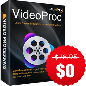 Digiarty Software: 100% OFF on VideoProc V4.1