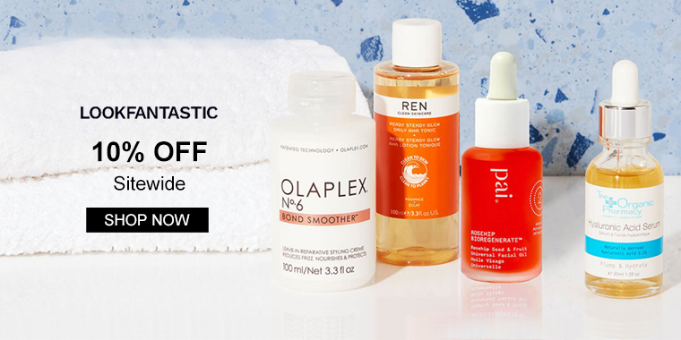 lookfantastic US: 10% OFF Sitewide + Up to 70% OFF Select Items