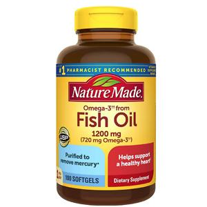 Nature Made 鱼油 1200 mg + Omega 3 100粒
