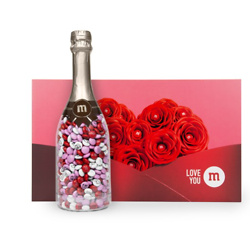 PERSONALIZABLE M&M'S OCCASION BOTTLE IN ROMANCE GIFT BOX