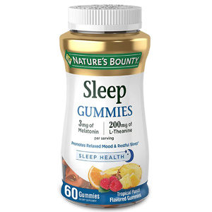 Melatonin by Nature's Bounty, 100% Drug Free Sleep Aid