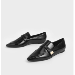 Metal Accent Loafers
