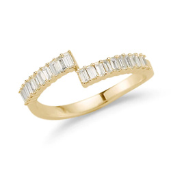 Sadie Pearl Split Baguette Ring
