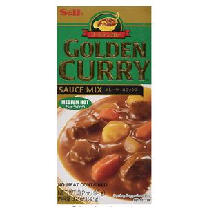 S&B Golden 经典日式咖喱酱中辣味 3.2oz装