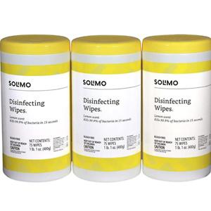 亚马逊自营品牌Solimo 消毒湿巾225片