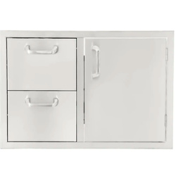 Signature Series 30-Inch Stainless Steel Right-Hinged Access Door & Double Drawer Combo