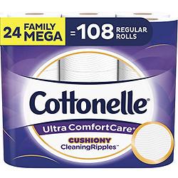 Cottonelle Ultra ComfortCare超舒适卫生纸 24卷超大家庭卷