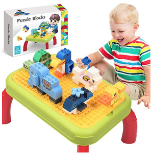 HOMOFY Building Block Table for Toddler