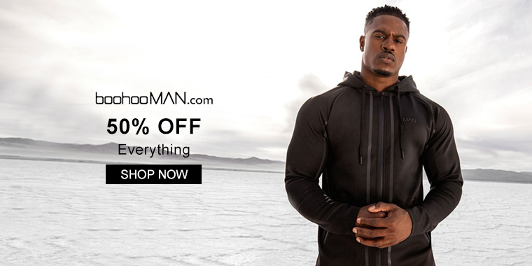 BoohooMAN: 50% OFF Everything