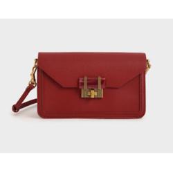 Stone-Embellished Envelope Bag