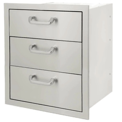 Signature Series 20-Inch Stainless Steel Triple Access Drawer