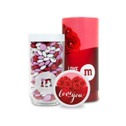 PERSONALIZABLE M&M'S LOVE YOU GIFT JAR IN GIFT TUBE