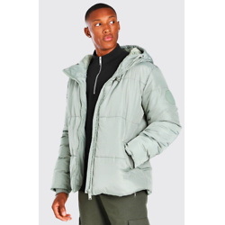 HOODED TOGGLE DETAIL PUFFER