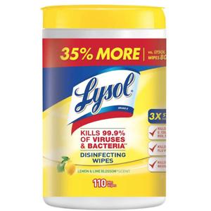 Lysol 消毒湿巾 110片 清新柠檬味