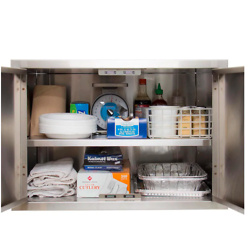 BBQGuys Aspen Series 36-Inch Stainless Steel Enclosed Cabinet Storage With Shelf