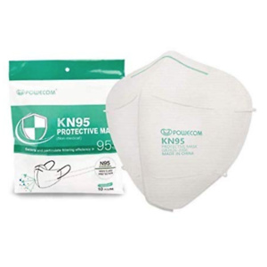 Powecom KN95 Face Mask on FDA List, 10 Pack Disposable Masks
