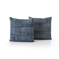Faded Blue Haze Pillow Set Of 2